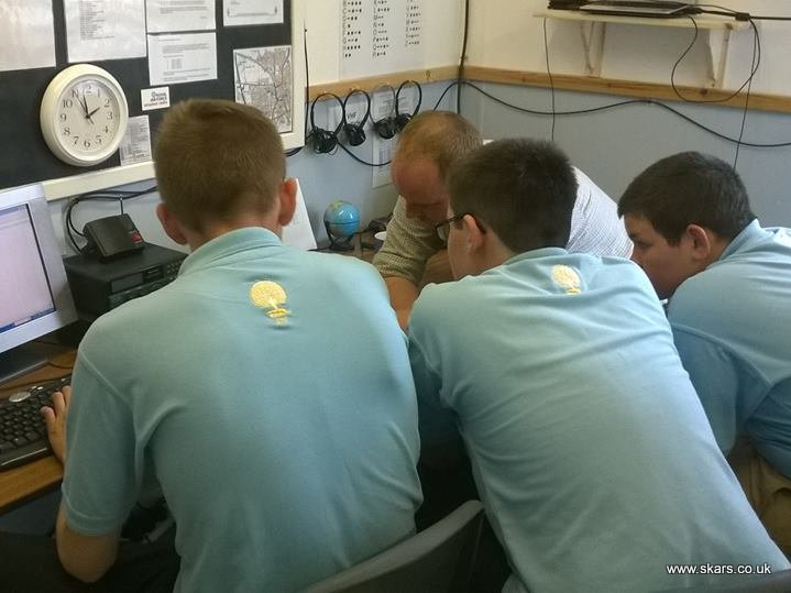 Cadets in radio room